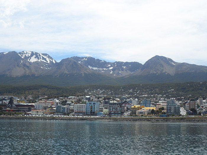Vistas de Ushuaia desde volviendo con el barco