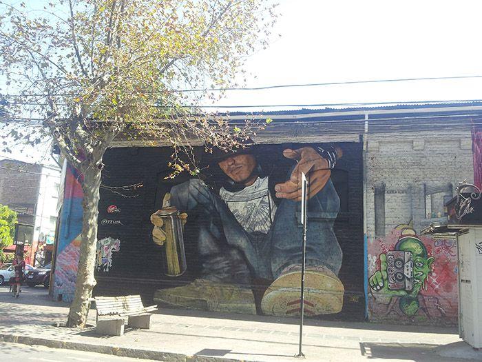 Grafiti en el barrio de Bellavista en Santiago de Chile