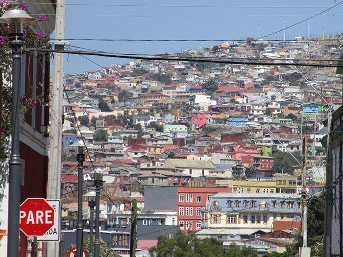 Las coloridas casas de Valparaíso, destartaladas pero con encanto