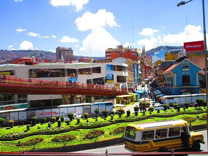 En el centro de La Paz hay zonas muy cuidadas.