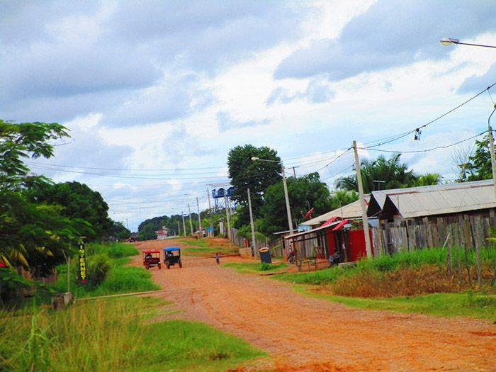 Así eran las calles del barrio de la comunidad de San Lorenzo