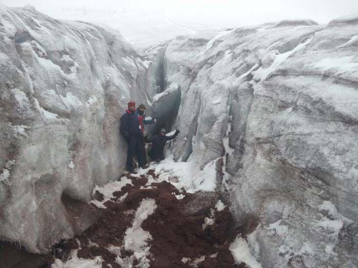 Glaciar situado a 5000 metros de altura