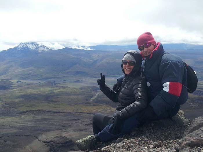 Las vistas durante la subida que hicimos al Cotopaxi ¡eran espectaculares!