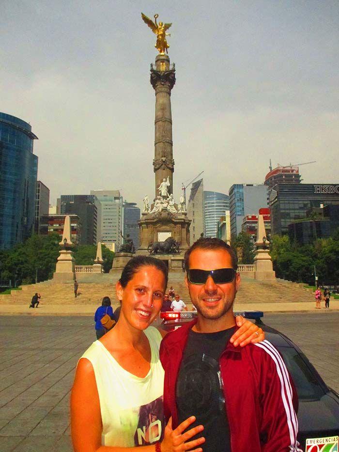 México DF. El Ángel. Monumento a la Independencia.