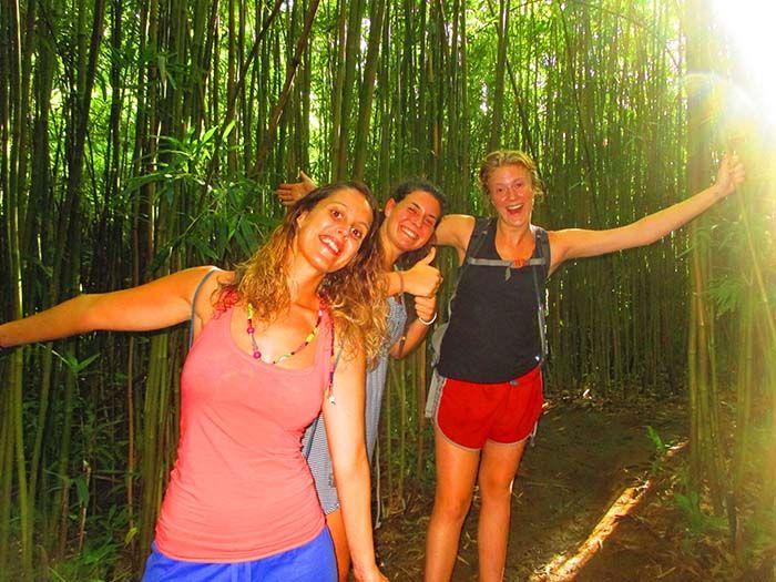 Bamboo Forest con Barbara y Abbie
