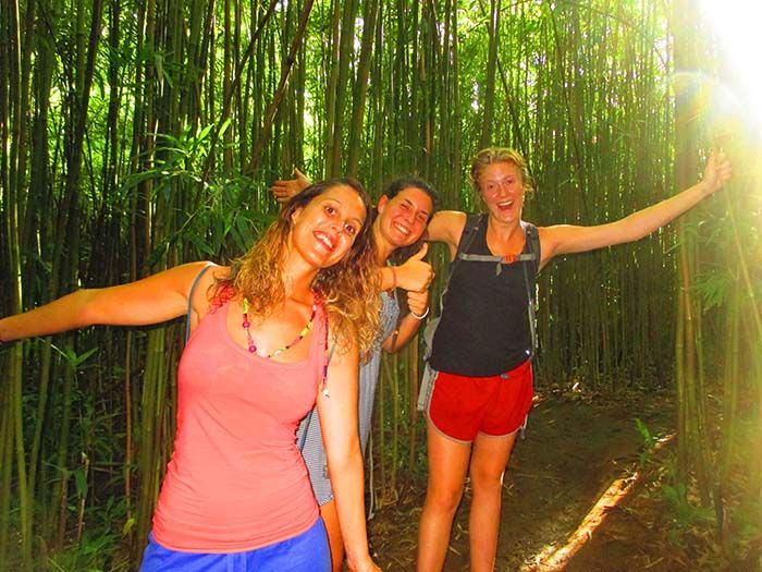 Bamboo Forest con Barbara y Abbie
