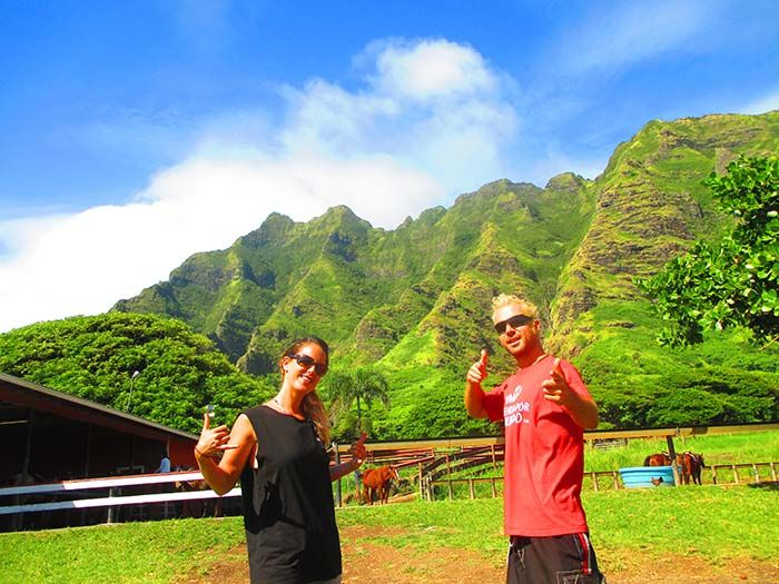 3 días perdidos en Oahu. Rancho Kualoa.