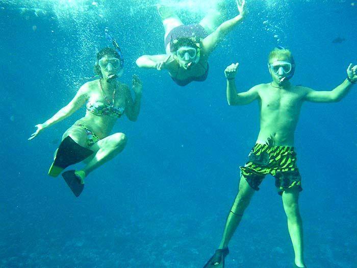 La verdad es que parecía que estuviéramos dentro de una piscina de lo bien que se veía todo...