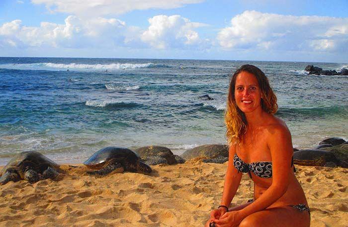Esta playa siempre está llena de tortugas¡ a veces hasta se confunden con las rocas!