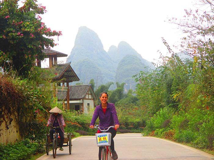 Alrededores de Yangshuo en bicicleta. China