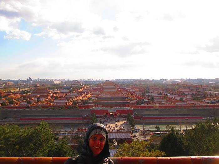 Pekín. Ciudad Prohibida desde el Parque de Jingshan arriba de la Colina del Carbón, merecen mucho la pena