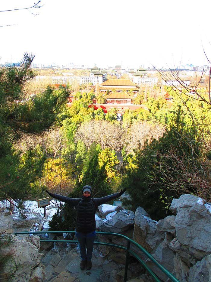 Parque de Jingshan arriba de la Colina del Carbón, Pekín