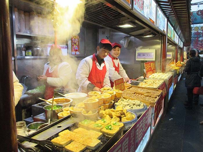 Pekín. Mercado de la Calle Wangfujing