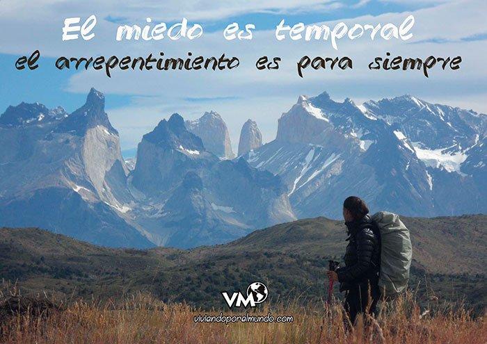 Frases motivadores: el miedo es temporal, el arrepentimiento es para siempre
