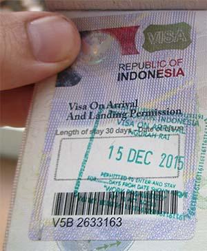 Visa On Arrival Bali Indonesia