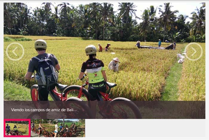 Tour en bici por los arrozales de Ubud