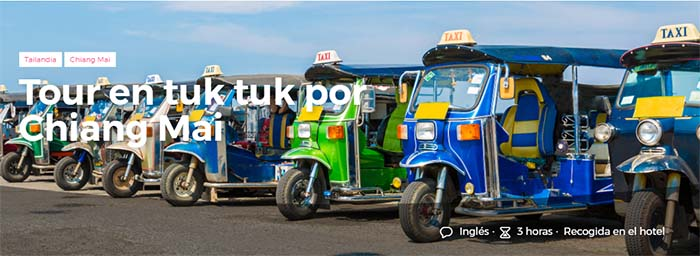 Tour en tuk tuk por Chiang Mai