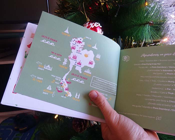 Cuaderno de viaje a Tailandia mapa