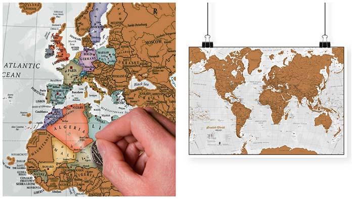 mapscratch Regalos para viajeros