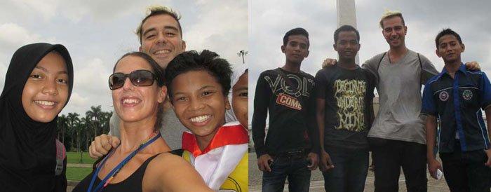 Todos querían hacerse fotos con nosotros ¡que graciosos! :)