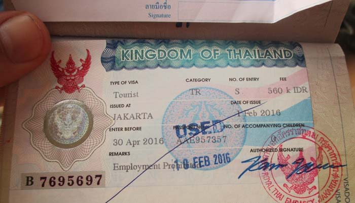 Kingdom of Thailand Visa