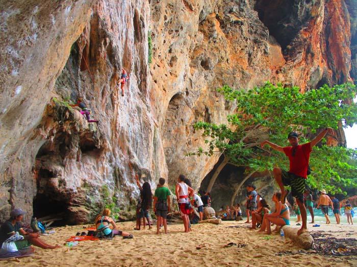 Escalada en Phra Nang Cave Beach