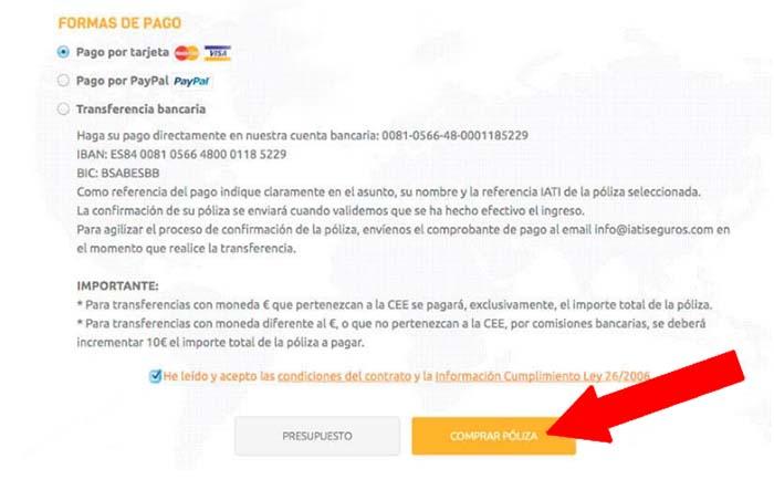 Contratar seguro de viaje online 2