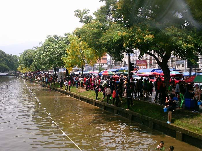 Fiesta del agua en Chiang Mai, Tailandia