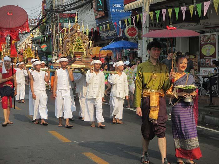 Desfiles Songkran Chiang Mai Tailandia