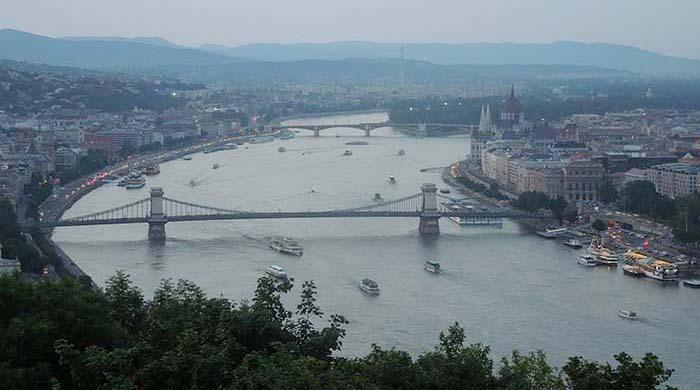 Puentes sobre el río Danubio en Budapest