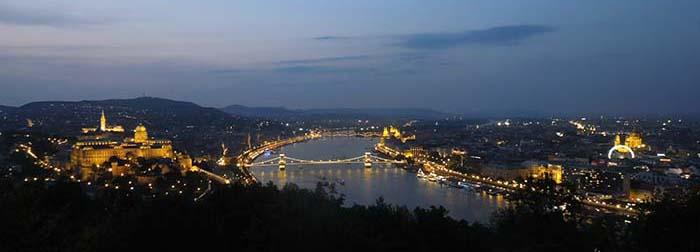Vistas de Budapest desde la Ciudadela