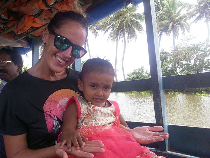 Backwaters India Kerala Niña india