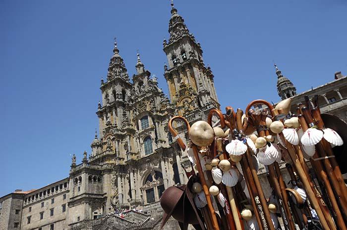 Camino de Santiago de Compostela Llegada Catedral