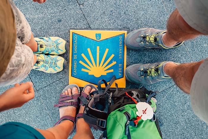 Peregrinos en el Camino de Santiago en Grupo Organizado
