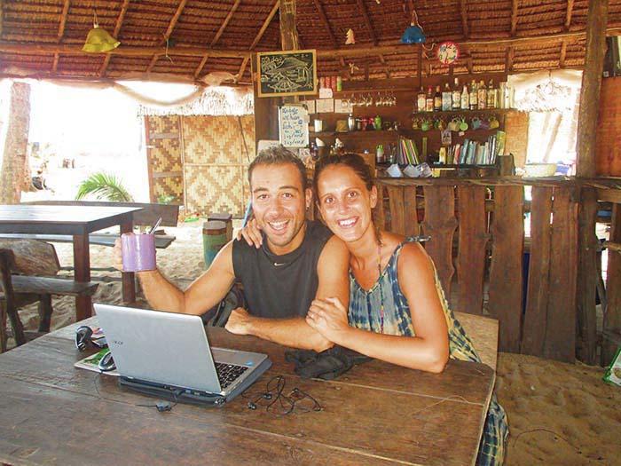 Nómadas digitales en Tailandia Koh Phra Thong