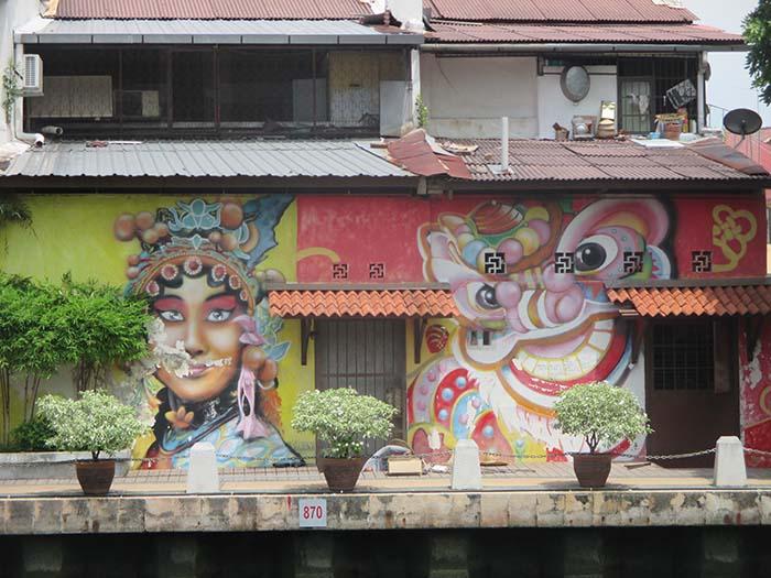 Arte urbano en Melaka