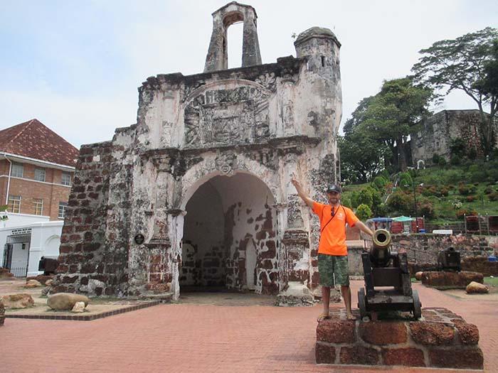 Fuerte de Melaka Porta de Santiago