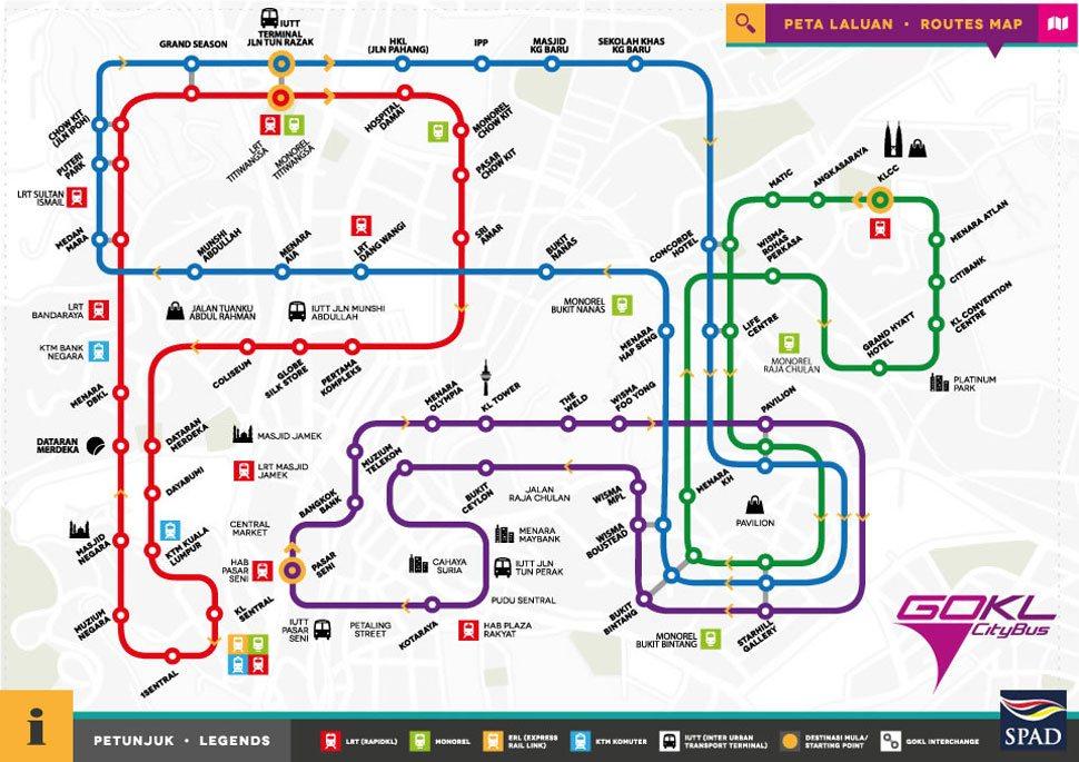 GOKL bus gratuito Kuala Lumpur Viviendoporelmundo