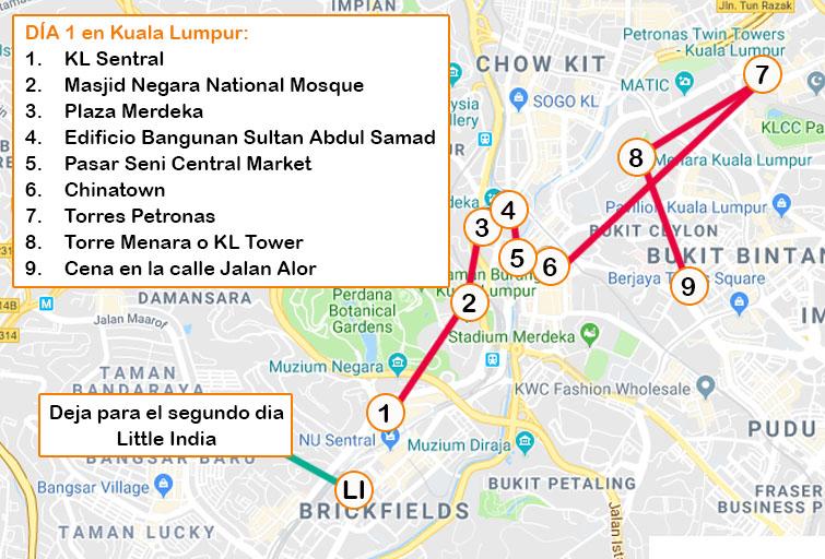 Qué ver en Kuala Lumpur Día 1
