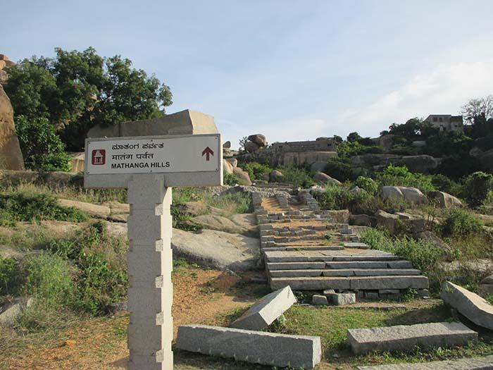 Atardecer en Hampi arriba del Matanga Hill