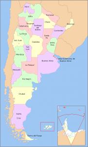 cartina argentina con province