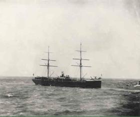 """La nave """"Pampa"""" che li trasportava"""