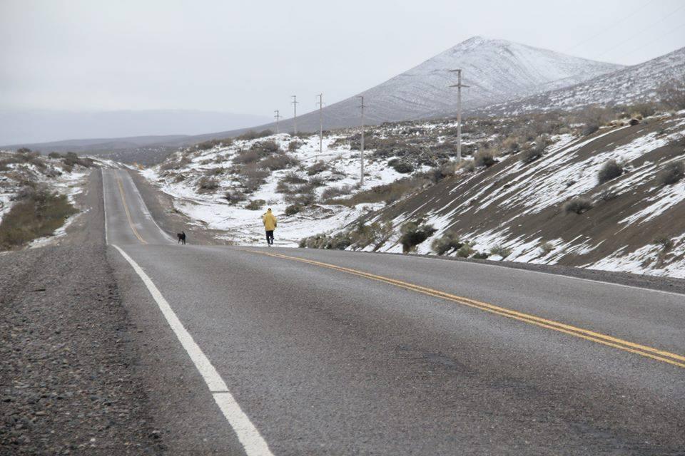L'arrivo a Bariloche, dopo aver percorso ben 3206km da La Quiaca.