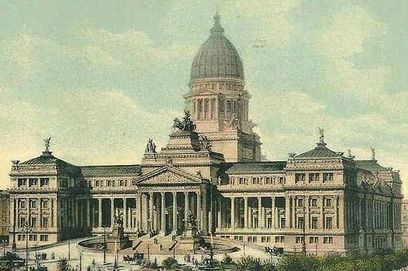 Palazzo del Congresso disegno di Meano