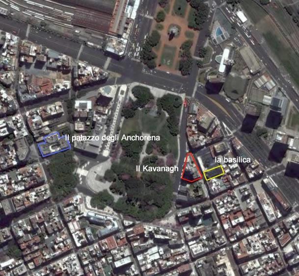 la disposizione degli edifici in plaza san martin