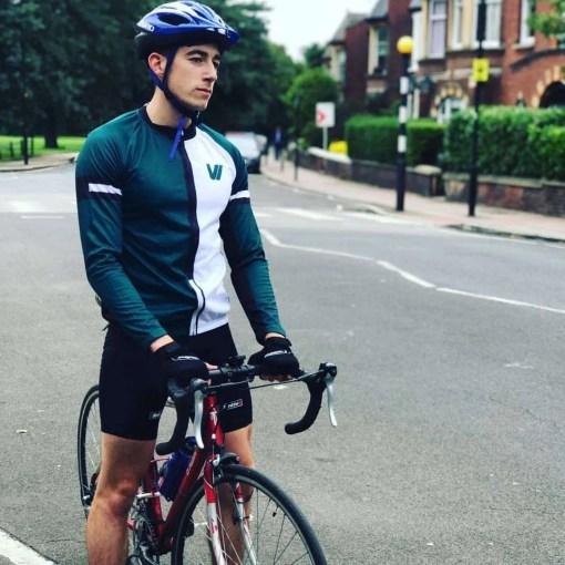 half & half cycling jersey