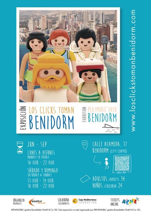 Cartel Clicks en Benidorm