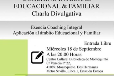 'Coaching Integral Educacional y Familiar' (Charla divulgativa)