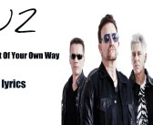 "U2: il nuovo singolo ""GET OUT OF YOUR OWN WAY"""