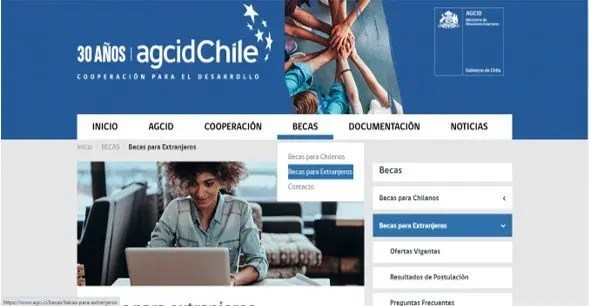 becas para extranjeros agcid chile